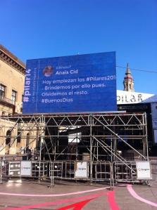 Tweet Binder en el Pilar de Zaragoza
